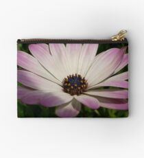 Side View of A Pink and White Osteospermum Studio Pouch