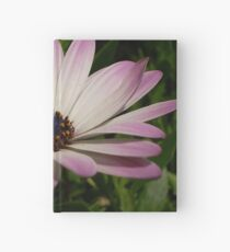 Side View of A Pink and White Osteospermum Hardcover Journal