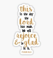 Psalm 118:24 Bible Verse Cute Hand Writing Sticker