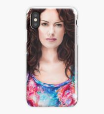 Lena Headey Art iPhone Case/Skin