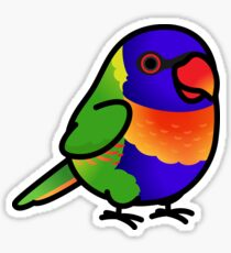Chubby Rainbow Lorikeet Sticker