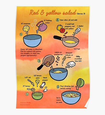 Red & Yellow Salad recipe Poster