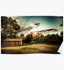 Famous Places - Sacred Chimney Rock Vortex in Sedona Arizona Poster
