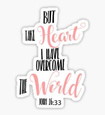 John 16:33 Hand Writing Bible Verse Sticker