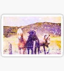 Horses - Spirit Animal throw pillow wall tapestry Sticker