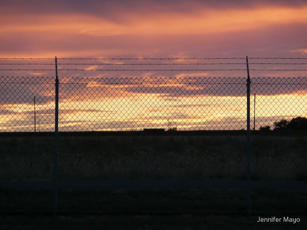 Military Base Sunset by Jennifer Mayo