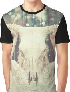Spirit Quest - Tribal Bull Animal Mask Graphic T-Shirt