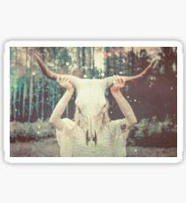 Spirit Quest - Tribal Bull Animal Mask Sticker
