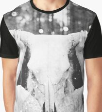 Tribal Animal Skull Magic Black and White Spirit Quest Graphic T-Shirt