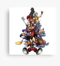 Kingdom Hearts 2 Squad Metal Print