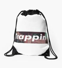 Trappin box logo Drawstring Bag