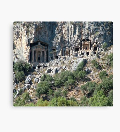 Carved Rock Tombs at Dalyan Canvas Print