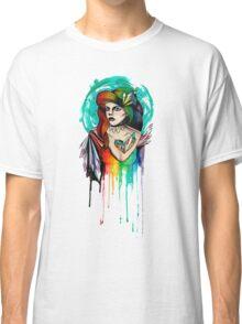 Watercolor Rainbow Hair Woman Classic T-Shirt