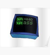 Head ass karen computer meme Poster