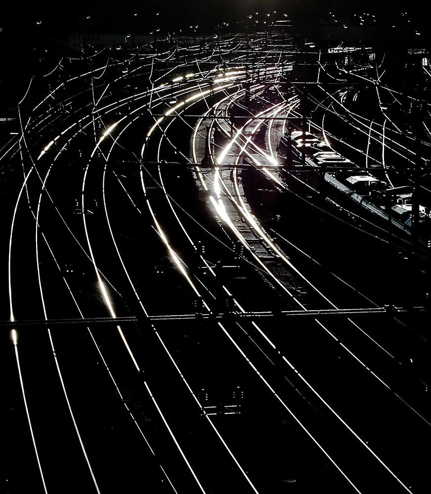 Rails Of Light by Mikael Raymond