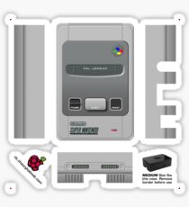 Nintendo SNES (Europe & UK) Skin for the Premium case [Get the MEDIUM size] Sticker