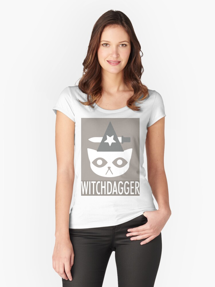WITCHDAGGER Women's Fitted Scoop T-Shirt Front