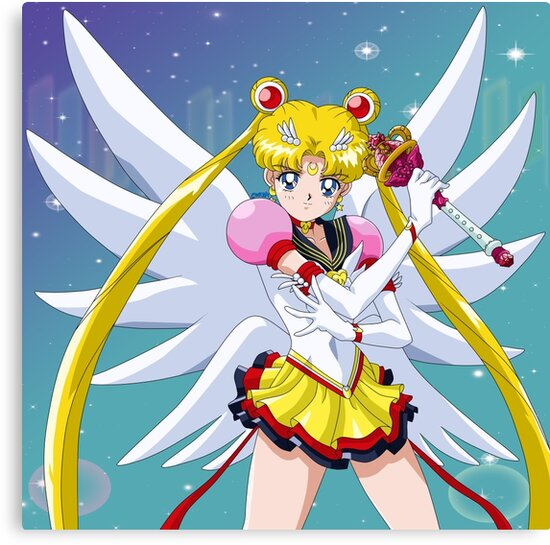 "Sailor Moon Eternal: ""Eternal Sailor Moon Attack Pose"" Canvas Print By"