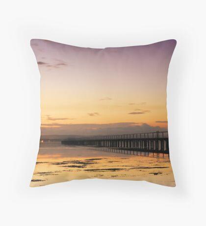 Purplish Sunset Throw Pillow
