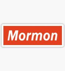 MORMON Hoodie - Supreme Font Sticker