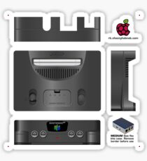 Nintendo 64 Skin for Flirc case [Get the MEDIUM size] Sticker