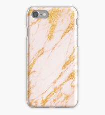 Gold Marble - Shimmery Glittery Rose Gold Marble Metallic iPhone Case/Skin