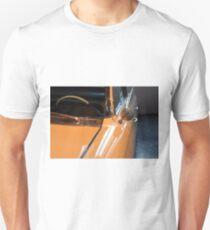 Front side of yellow shining elegant car Unisex T-Shirt