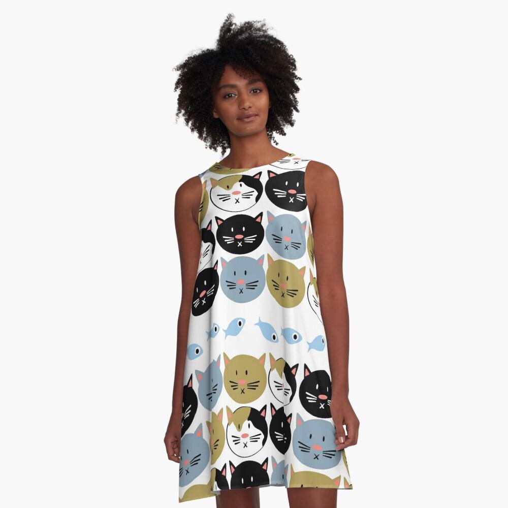 Cat Lady Pattern A-Line Dress