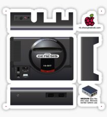 Sega Genesis Skin for Flirc case [Get the MEDIUM size] Sticker