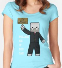 Minecraft games make you fun ! Women's Fitted Scoop T-Shirt
