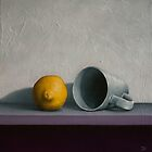 Still life - Lemon and tea cup by DamienVenditti