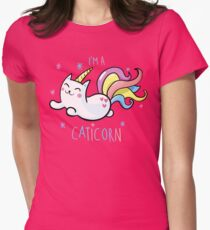 I'M A CATICORN Womens Fitted T-Shirt