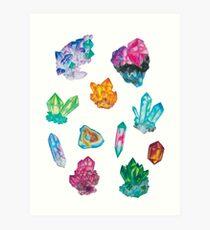 Mineralien Kunstdruck