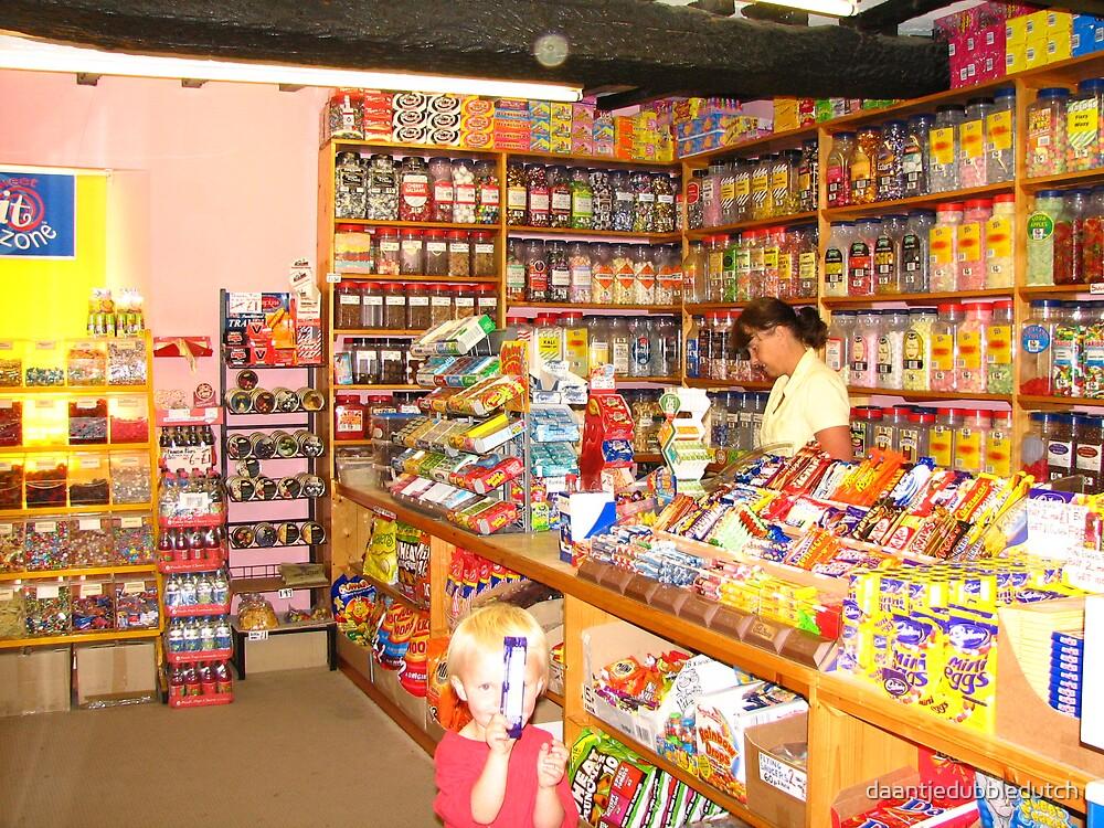 boy in sweet shop by daantjedubbledutch
