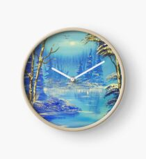 Colours of Winter Clock