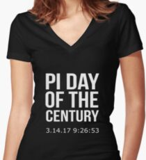 Pi Day Of The Century 14 March 2017 Women's Fitted V-Neck T-Shirt