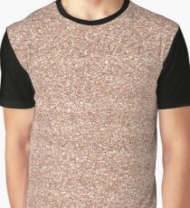 Rose Gold Glitter - Glittery Pink Metallic Glitter Graphic T-Shirt