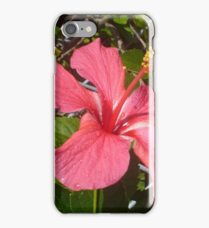 Hot Pink Hibiscus iPhone Case/Skin
