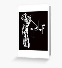 Funny Golf T Shirt Greeting Card