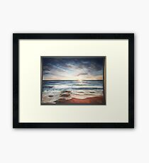 Gentle Seascape Oil Painting Framed Print