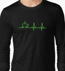 Morning Coffee Heartbeat EKG Long Sleeve T-Shirt