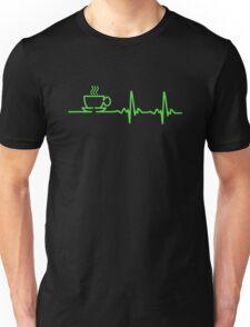 Morning Coffee Heartbeat EKG Unisex T-Shirt