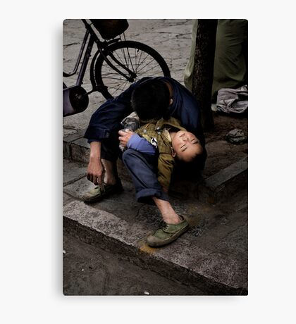 I'm so tired, I haven't slept a wink.. Canvas Print