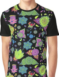 colorful flowers pattern Graphic T-Shirt