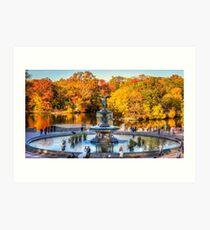 The Bethesda Fountain Art Print