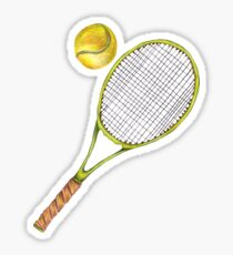 Pegatina Raqueta de tenis con pelota de tenis. lápiz de color