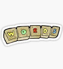 cartoon letter blocks Sticker
