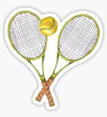 zwei Tennisschläger mit Tennisball Sticker