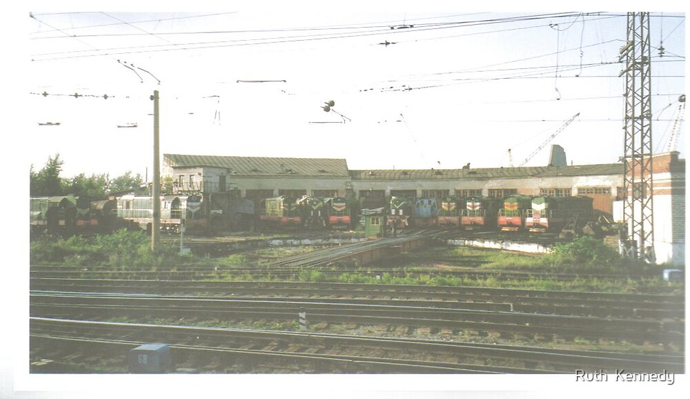 lots of trains by Ruth  Kennedy