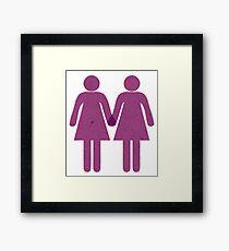 Two Girls, One Heart Framed Print